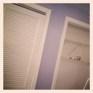 Bedroom (now painted periwinkle)