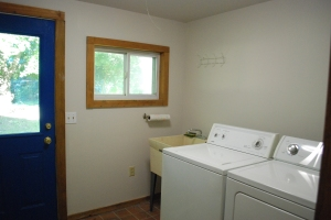 Here's the laundry room, right off the kitchen. and the back door.
